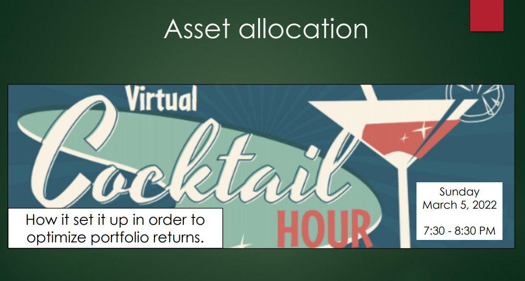 Virtual Cocktail Party: Asset Allocation